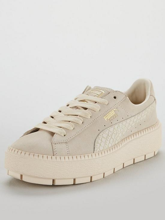 sports shoes 46fed 5a03d Suede Platform Trace Animal