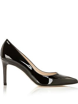 lk-bennett-floret-patent-pointed-toe-court-shoes-black