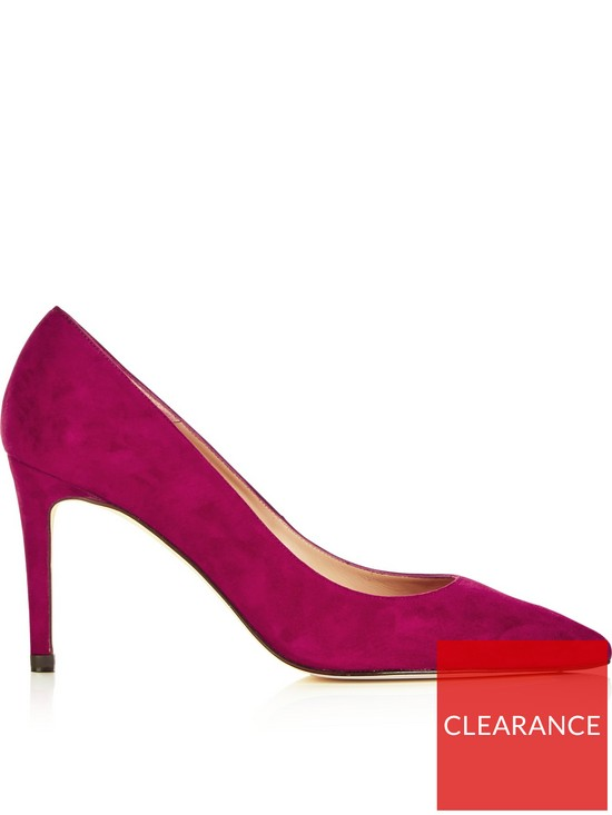 034a580ba1 L.K. Bennett Floret Suede Pointed Toe Court Shoes - Dark Pink | very ...