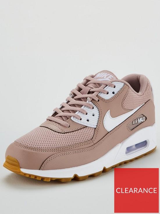 e23276bd00e57 Nike Air Max 90 - Pink/White | very.co.uk