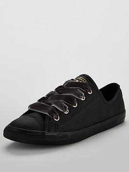 Converse Chuck Taylor All Star Dainty Leather Ox - Black