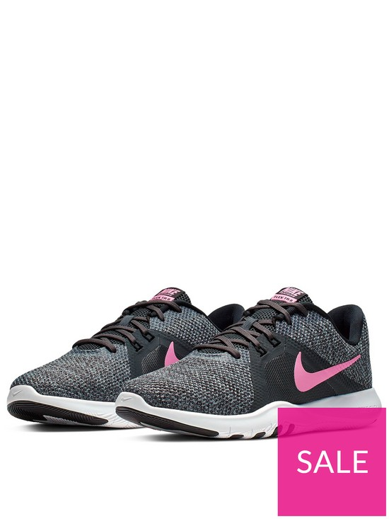 fa72f607240 Nike Flex Trainer 8 - Black/Pink | very.co.uk
