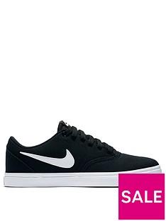 new style 31d6f fe68a Nike SB Check Solar Canvas - Black