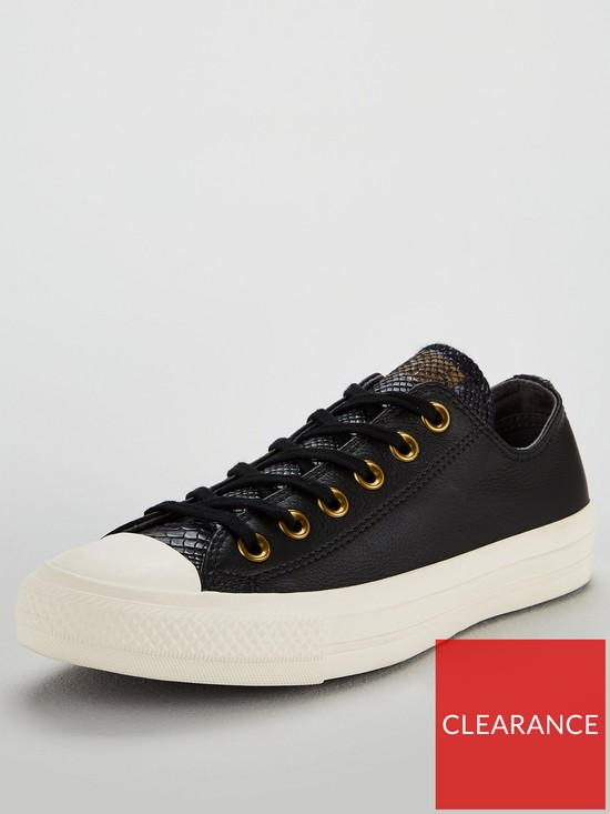 7d3b6094fc8f73 Converse Chuck Taylor All Star Leather Ox - Black