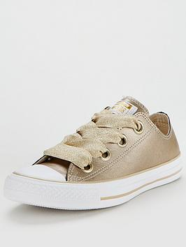 Converse Chuck Taylor All Star Leather Big Eyelets Ox - Gold/White