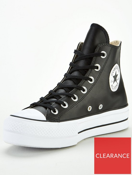 7bdac3dee7d24d Converse Covnerse Chuck Taylor All Star Leather Lift Platform Hi ...