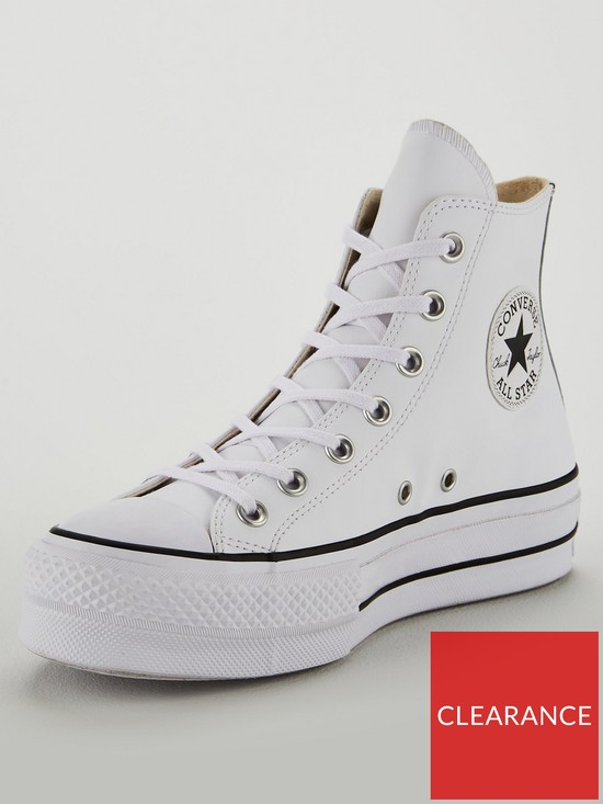 9e7397adb8a6f2 Converse Covnerse Chuck Taylor All Star Leather Lift Platform Hi ...