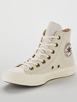 Converse Chuck Taylor All Star Leather Hi-Top - Off White