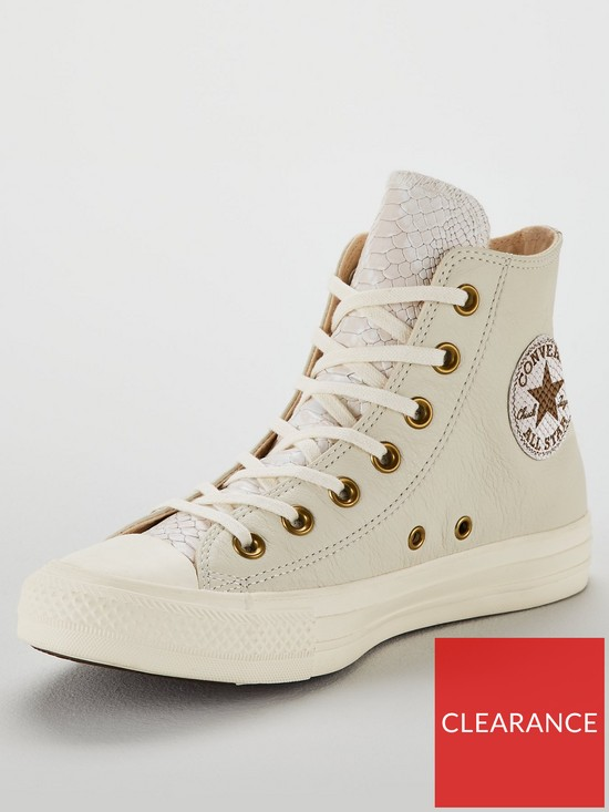 Converse Chuck Taylor All Star Leather Hi-Top - Off White  19e3d4c6f