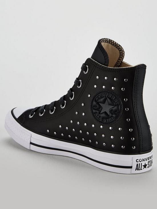 9554308a8054 ... Converse Chuck Taylor All Star Leather Stud Hi-Top - Black. View larger