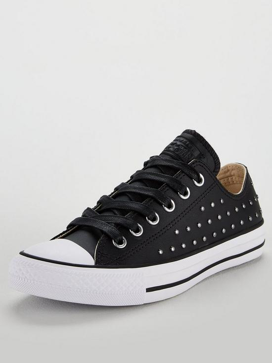 43ae74fc29f Converse Chuck Taylor All Star Leather Stud Ox - Black