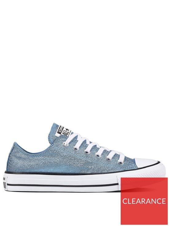 faa8d1740f5881 Converse Chuck Taylor All Star Glitter Ox - Blue
