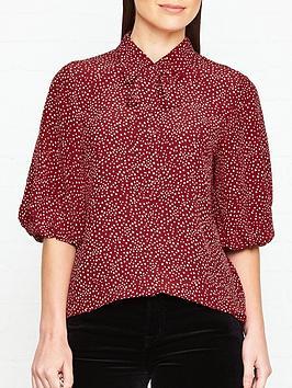lk-bennett-tillilia-star-print-blouse-red