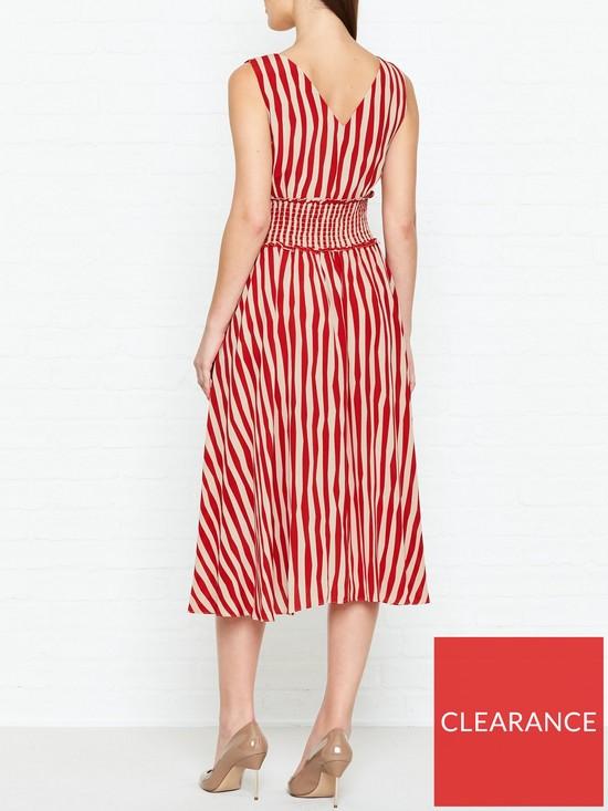 15b1ac2b36 L.K. Bennett Ambery Book Stripe Dress - Poppy Red | very.co.uk