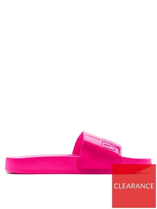 6f30d46189f8 Puma Leadcat Patent Slide - Pink