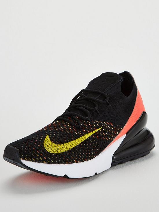 purchase cheap f55dc a67dc Nike Air Max 270 Flyknit - Black/Pink | very.co.uk