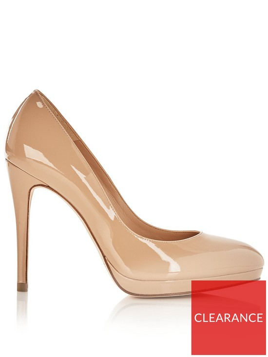 3f1a4f0a897e L.K. Bennett Sledge Platform Court Shoes - Nude