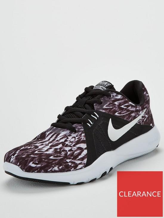 low priced cf8aa 23242 Nike Flex Trainer 8 Print - Black/White | very.co.uk