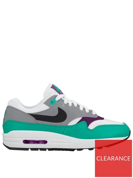 a70d213186ef Nike Air Max 1 - White Purple Green