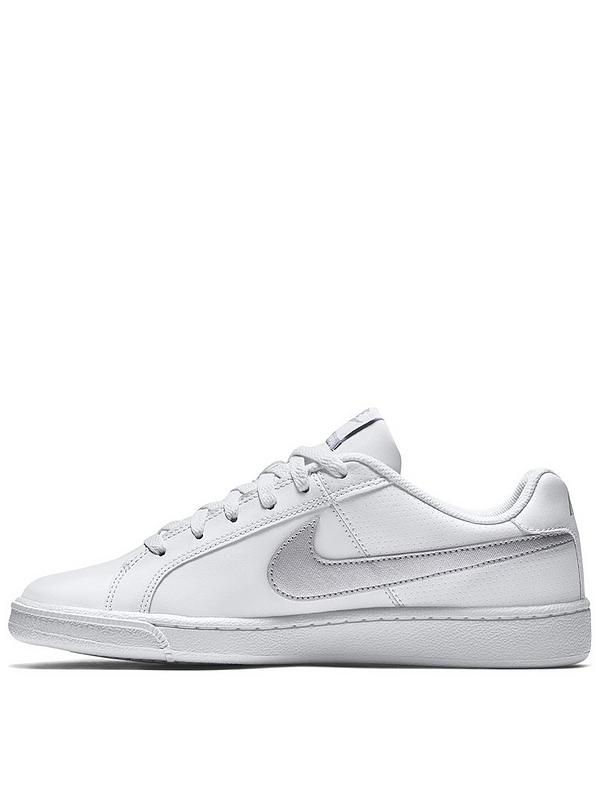 Opiáceo Instalar en pc Sur oeste  Nike Court Royale - White/Silver | very.co.uk