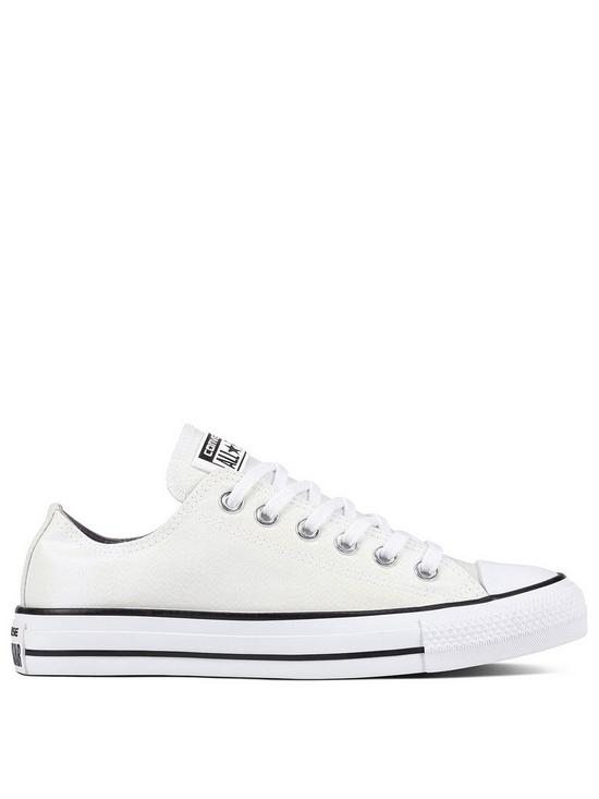 5bf622d6a704 Converse Chuck Taylor All Star Glitter Ox - White