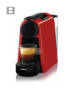 Nespresso Essenza Mini Coffee Machine by Magimix - Ruby Red