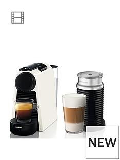 Nespresso Essenza Mini Coffee Machine with Aeroccino by Magimix - Pure White