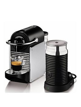 Nespresso Pixie Coffee Machine And Aerocinno By Magimix - Aluminium