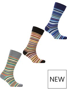 ps-paul-smith-mens-3-pack-classic-striped-socksnbsp--multi