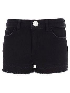 river-island-girls-black-boyfriend-shorts