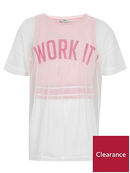 river-island-pink-039work-it039-layer-t-shirt