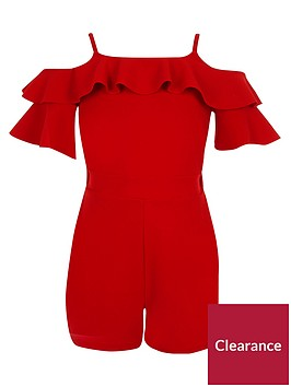 river-island-girls-red-cold-shoulder-ruffle-playsuit