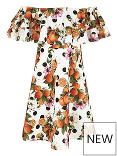 river-island-orange-print-double-ruffle-bardot-dress