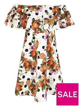 river-island-orange-print-double-ruffle-bardot-dress