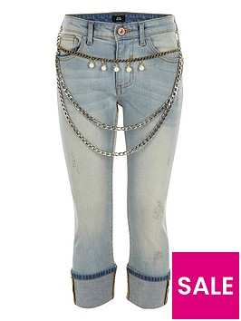 river-island-girls-blue-chain-belt-turn-up-skinny-jeans