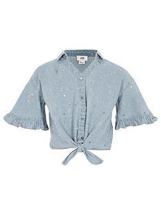 river-island-girls-denim-sequin-tie-front-shirt