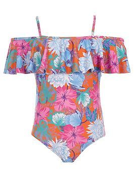 river-island-girls-orange-floral-frill-bardot-swimsuit