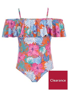 river-island-girls-orange-floral-frill-bardot-swimsuit