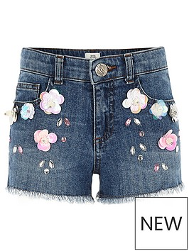 river-island-girls-flower-embellished-denim-shorts