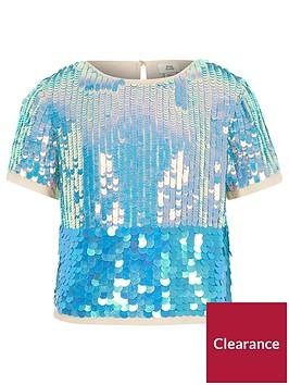 river-island-girls-blue-sequin-emebellished-t-shirt