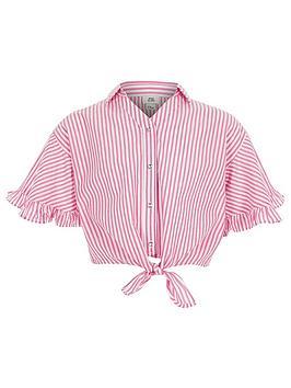 river-island-girls-pink-stripe-tie-front-shirt