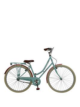 Image of Elswick Elswick Royal Womans 700C Heritage Bike Single speed with mudguards, propstand & Rack, Blue/Claret, Women