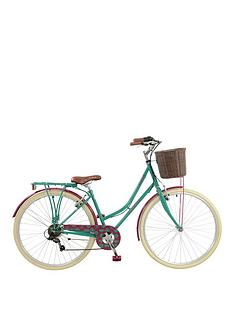 elswick-deluxe-womens-700c-heritage-bike-6-speed-thumb-shifter-muguards-rear-rack-amp-front-basketpropstand