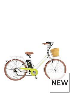 elswick-electric-ladies-steel-heritage-bike-with-basket-rear-rack-and-lights