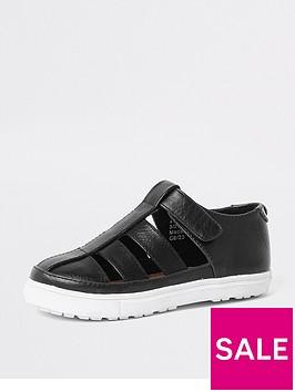 river-island-mini-boys-black-caged-shoe