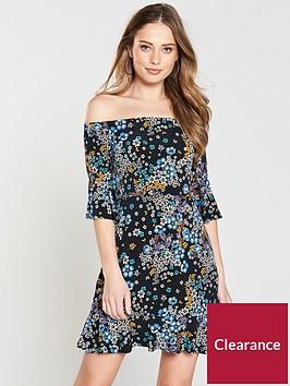 v-by-very-bardot-flutednbspsleeve-jersey-dress