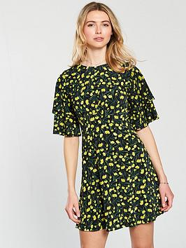 v-by-very-double-frill-sleeve-dress