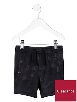 river-island-mini-boys-navy-camo-jersey-shorts