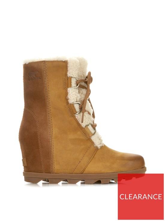 72d6a7f8ebb SOREL Joan Of Arctic Wedge II Shearling Boots - Camel