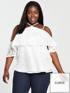 v-by-very-curve-double-layer-lace-top